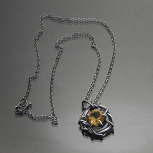 1735 citrine necklace