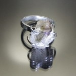 photo of a smoky quartz and sterling silver ring