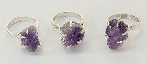 Under the Dome first set of deep amethyst rings
