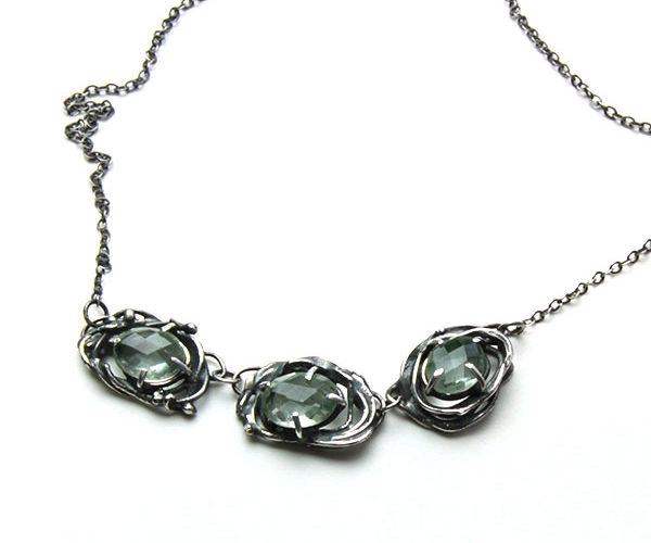 green amethyst sterling silver