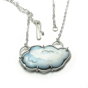 cloud necklace with a silver lining